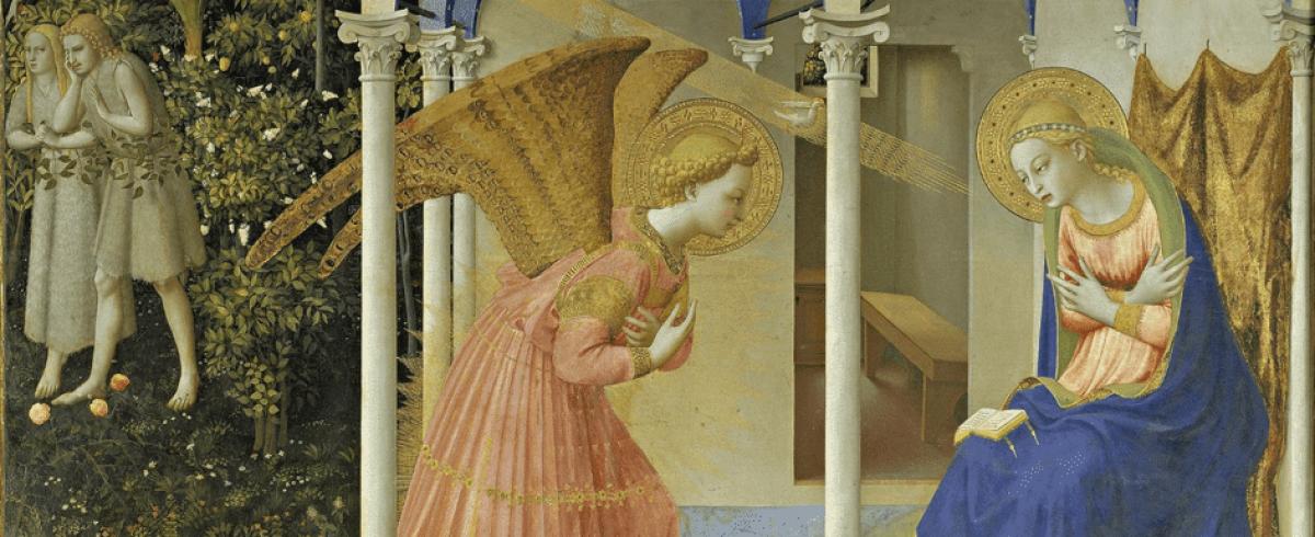 Fra Angelico: Angyali üdvözlet (1430–1432) Prado, Madrid